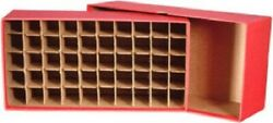 Guardhouse Cent Coin Tube Storage Display Box Red Holds 50 Tubes Heavy Duty New