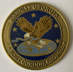 Nsa / Css Georgia Ft Gordon Ga Commanders Coin 4 Excellence Battled Carried Cond