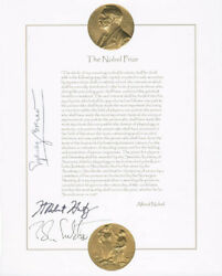 Sydney Brenner - Composite Photograph Signed With Co-signers