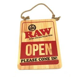 Raw Rolling Paper Wooden Open / Closed Sign