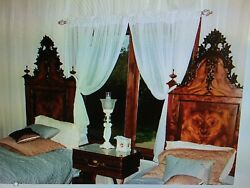 Unique Antique French Twin Bedroom Set 1800and039s Filigree Hand Made Elves