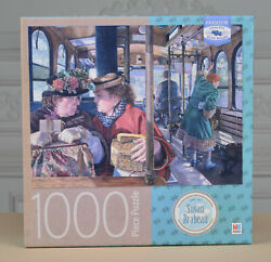 Mb Jigsaw Puzzle 1000 Pieces The Conversation Susan Brabeau Blue Board Used