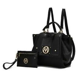 MKF Collection Jessie Satchel Backpack with Wristlet Pouch by Mia K. $55.91