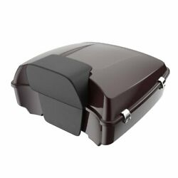 Advan Black Cherry Chopped Tour Pack Trunk Luggage For Harley Touring 1997-2020