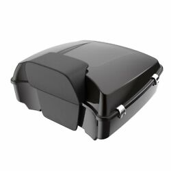 Advan Black Forsest Chopped Tour Pack Trunk Luggage For Harley Touring 1997-2020