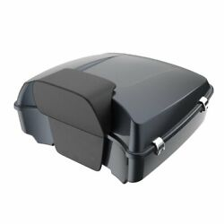 Advan Black Tempest Chopped Tour Pack Trunk Luggage For Harley Touring 97-20