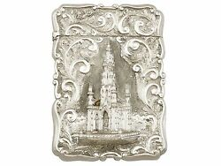 Antique Sterling Silver Card Case By Nathanial Mills, Victorian 1848