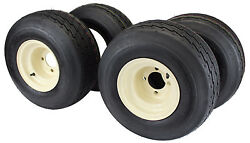 18x8.50-8 With 8x7 Tan Wheel Assembly Set Of 4 For Golf Cart And Lawn Mower