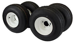 18x8.50-8 With 8x7 White Wheel Assembly Set Of 4 For Golf Cart And Lawn Mower