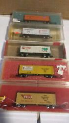 🔥con-cor N Scale Freight Cars In Boxes Lot Of 5 .. All Box Cars -package 4 🔥