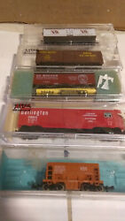 🔥 Atlas N Scale Freight Cars In Boxes Lot Of 5 .. All Box Cars -  2 🔥