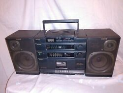 Vintage Sony Boombox Cfd-455 Cd Radio Cassette For Parts Or Repair Only