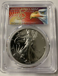 1989 Silver American Eagle Pcgs Ms70 Perfect Grade Ms 70 Thomas S Cleveland Pop3