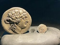 Ancient Greek Silver Coins From Central Asian Ancient Greek Empire Antiquity