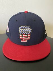 Rare Made In Usa San Francisco Giants 4th Of July Hat New Era Authentic 59fifty
