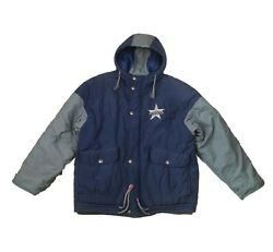 Dallas Cowboys Nfl Stadium Jacket With Hood Mirage Classic Collection Mens Large