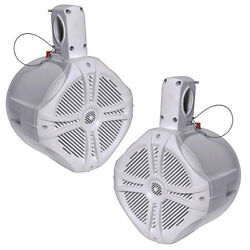 Power Acoustik Mwt-65w Marine 6.5 Wake Tower Speaker White Pair