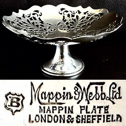 Rare Vintage/antique Ornate Mappin And Webb Silver Plated Comport 6andrdquo/15cm 200g
