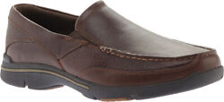 Rockport Modern Prep Penny Loafer Menand039s Shoes In Dark Brown Leather - New