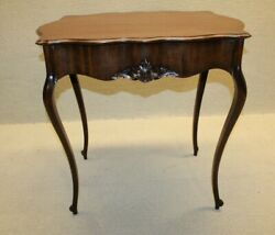 Elegant Antique Turn Of 19th C. Robert Mitchell French Mahogany Side/end Table