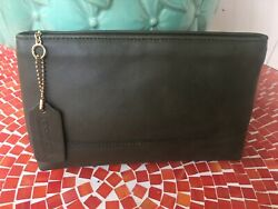 Vintage COACH Cosmetic Large Travel Pouch Rare Olive Green $69.99