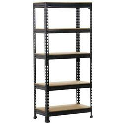 SmileMart 5 Level Adjustable Shelf Garage Steel Metal Storage Metal Storage Rack