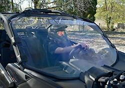 Can-am Maverick X3 Strong Polycarbonate Full Windshield W/ Quick Adjust Clamps