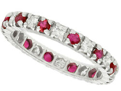 1970s 0.20 Ct Ruby And Diamond Eternity Ring In 18k White Gold