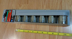 Usa Made Craftsman 1/2 Drive Easy Read Metric Socket Set Large Laser Etched 6pc