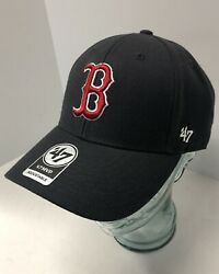 Boston Red Sox #x27;47 Brand Blue Adjustable MVP Hat New With Tags