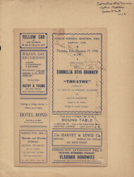 Theatre Play Cast - Inscribed Show Bill Signed Circa 1942 With Co-signers