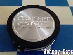 Concept One Wheels [73] Matte Black And Silver Center Cap 2204000125 Qty. 1