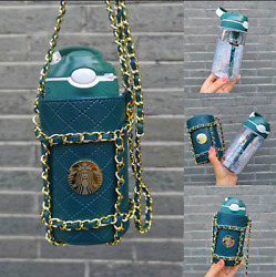 Starbucks 2020th Anniversary Lock The Straw Cup Leather Cup Set 15oz /450ml New