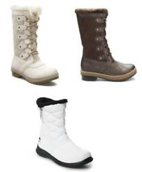 Women Winter Snow Boots Totes Waterproof Microfiber Lace Up Quilted 7 9 10 11 $40.00