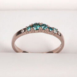 Engagement Ring Cocktail Ring 2mm Row Rings750 White Tw/vs And Colorful Diamond