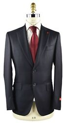 New Isaia Napoli Suit 100 Wool 130's Sz 46 Us 56 Eu 8r 18ivw3