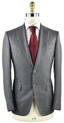 New Isaia Napoli Suit 100 Wool 120's Sz 46 Us 56 Eu 8r 18ivw1