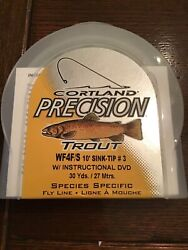 New Cortland Precision Trout Wf4f/s 10andrsquo Sink-tip 3 W/instructional Dvd 30 Yd.