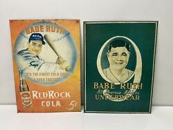 Babe Ruth Red Rock Cola Retro Vintage Reproduction Metal Tin Sign 9x12