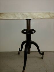 Antique Satellite Adjustable Typewriter Table With A Beautiful Top