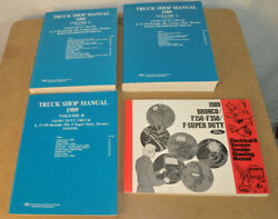 Ford 1989 Truck Shop Manuals Light Duty Four Volumes Excellent Condition