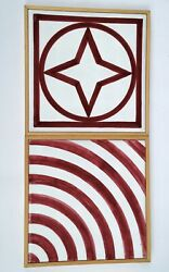 1984 Sol Lewitt Star Within Circle And Square + Color Arc