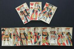 C.1750 Old Parisian Playing Cards 12 Courts Only G. De Paris France 18th Century