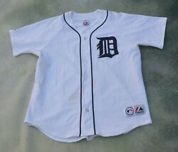 Vintage Majestic Mlb Detroit Tigers Gary Sheffield 3 Jersey_please See Pictures