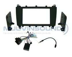 Radio Stereo Mounting Dash Kit Combo 2din + Wire Harness + Antenna Mb132