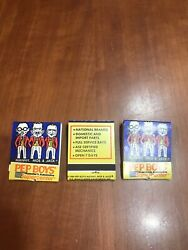 Lot Of 3 Pep Boys Auto Parts Repair Matchbook Advertising 1989