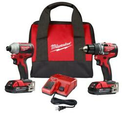 Milwaukee-2892-22ct M18compact Brushless Drill Driver/impact Driver Combo Kit...