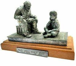 1990 Michael Ricker Pewter Uncle Remus And Boy Ed 195/1000 Rare