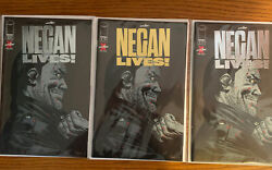 Image Negan Lives Lot Of 3. 1 Gold And 2 Silvers.2020 The Walking Dead.