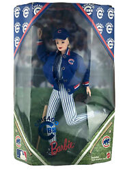 Vintage Chicago Cubs Baseball Barbie Doll 23883 Wooden Bat New Collectible1999